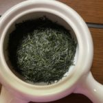 玉露の茶葉、お湯を入れる前の状態