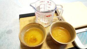 煎茶の入れ方のコツ、湯呑に分ける