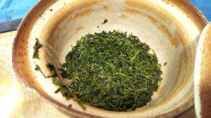 玉露を1度抽出した後の茶葉