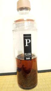 フィルターインボトルで和紅茶を入れた様子