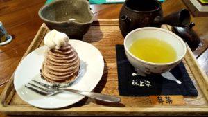 芽茶とモンブランセット