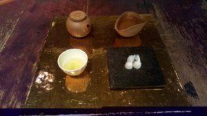 玉露と干菓子セット