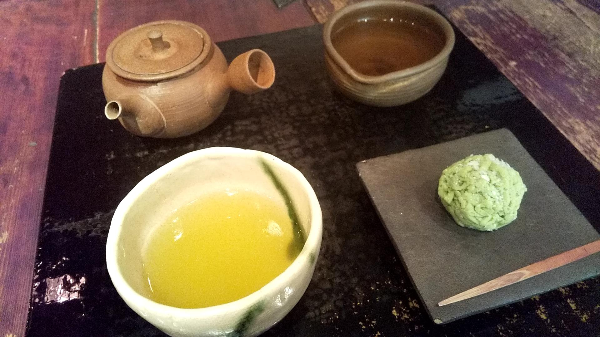 銀座 茶の葉さん煎茶セット