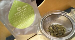 釜炒り緑茶と透明急須