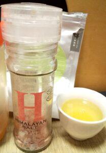 はちみつ緑茶とヒマラヤ岩塩