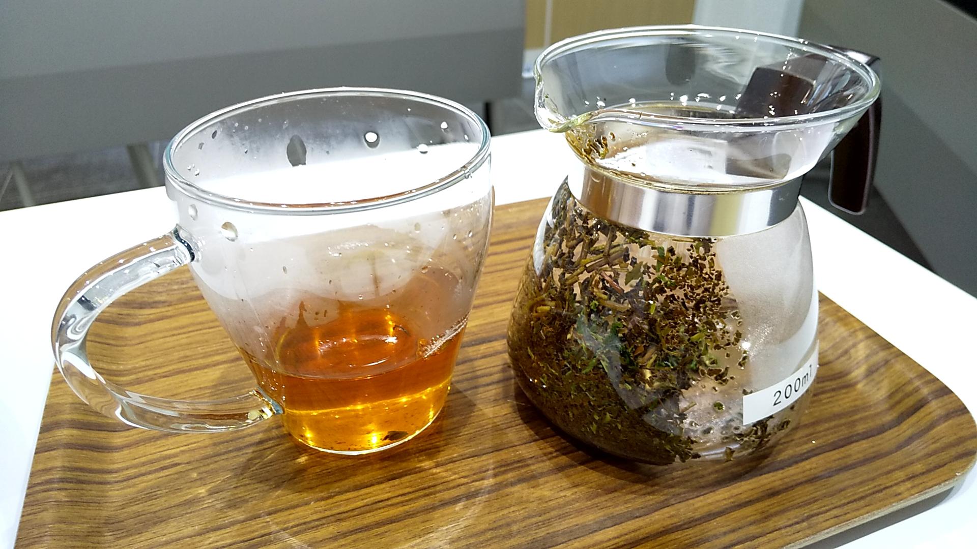 紅茶3g、ほうじ茶1g、普通蒸し煎茶1gのブレンド茶
