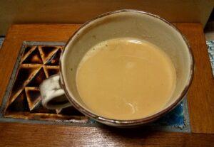 ほうじ茶ラテができました