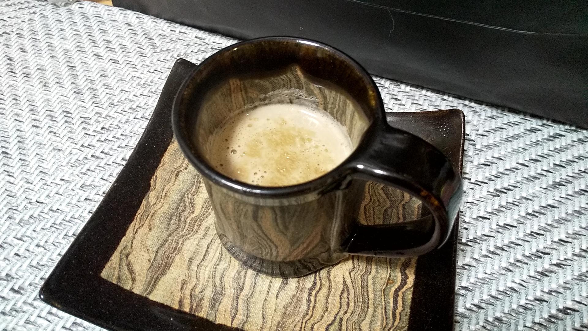 ほうじ茶豆乳ラテ