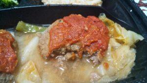 牛赤身低糖質ハンバーグ(トマトソース)